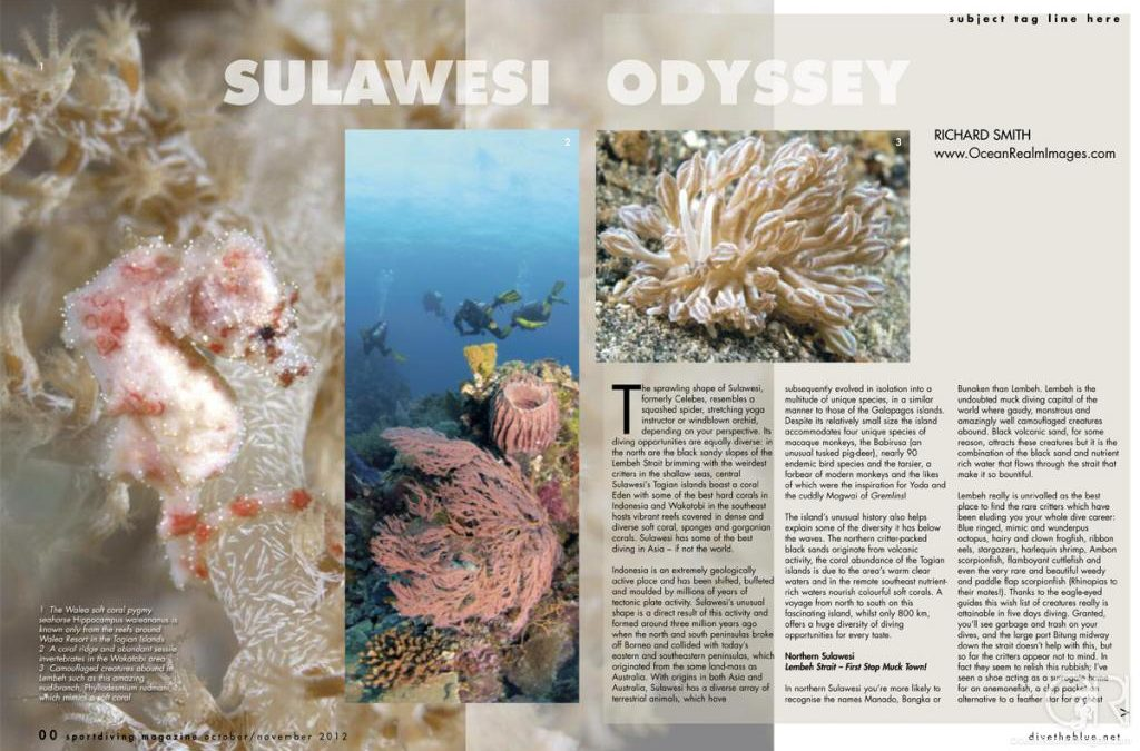 Sport Diving Magazine issue 154 Article – Sulawesi Odyssey