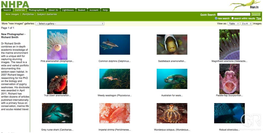 NHPA – Image Library Representation