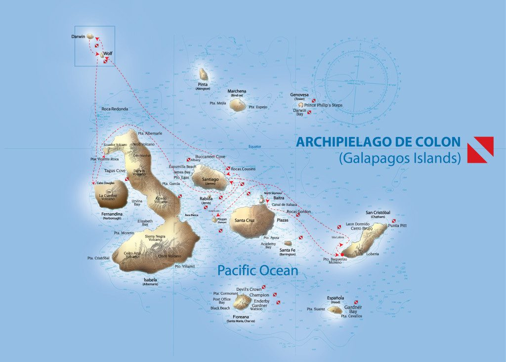Galapagos route liveaboard charter with Dr Richard Smith